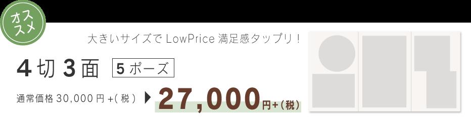 4切り3面5ポーズ27000円