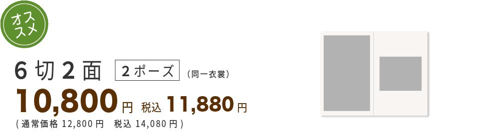 6切り2面3ポーズ8800円